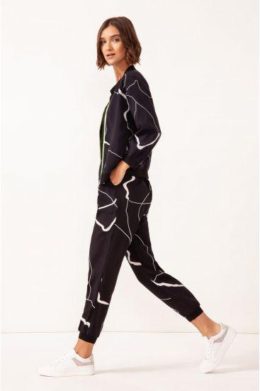 Spodnie o sportowym fasonie