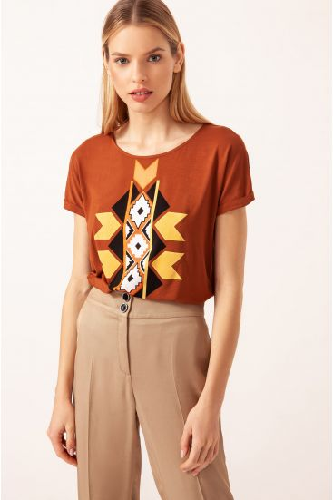 T-shirt ze wzorem