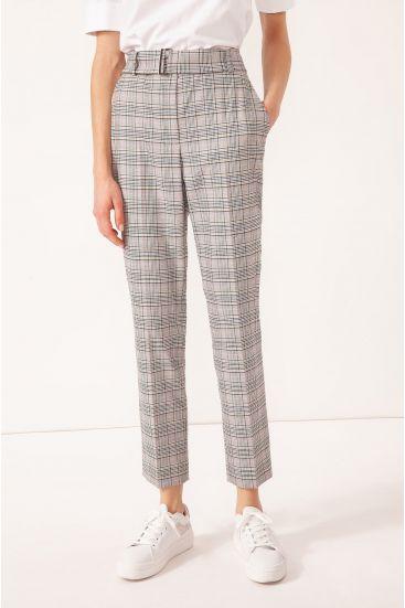 Garniturowe spodnie w kratę