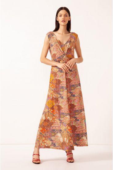 Maxi sukienka z wzorem paisley