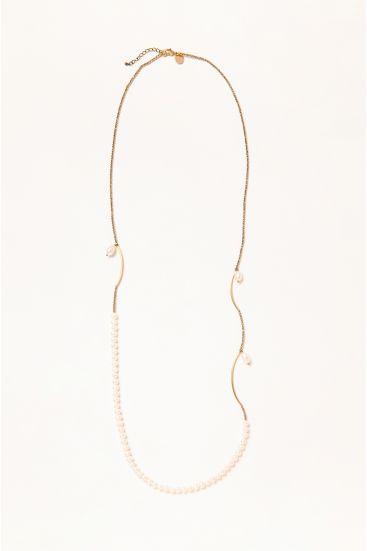 Długi naszyjnik z perłami