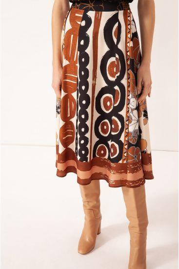Spódnica w etniczny wzór