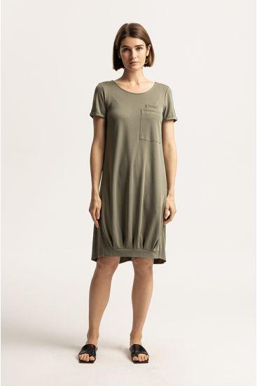 Sukienka z modalu z kieszenią