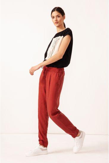 Spodnie typu joggers z lyocellu