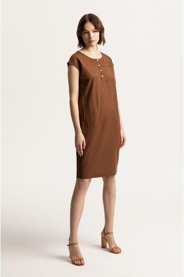 Prosta sukienka z kieszeniami