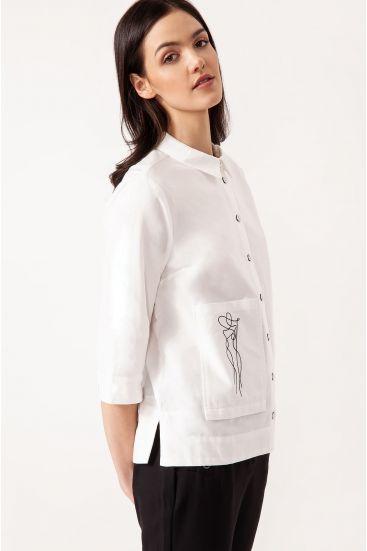 Bawełniana koszula z kieszenią