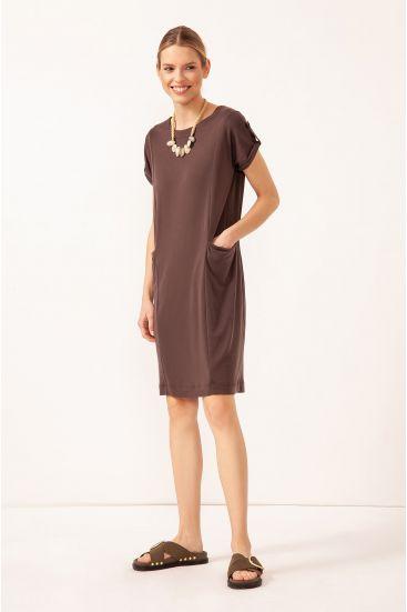 Sukienka z modalu z kieszeniami