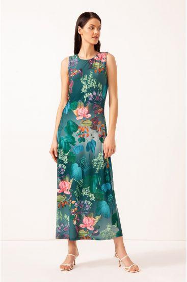 Midi sukienka z printem
