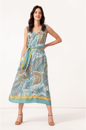 Sukienka midi z dekoltem v