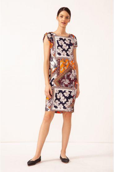 Prosta sukienka z printem