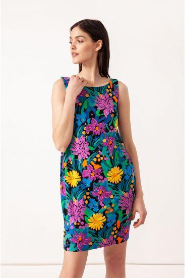 Sukienka mini z kwiatowym printem