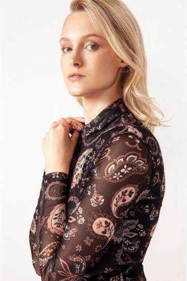 Bluzka ze wzorem paisley