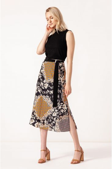 Spódnica ze wzorem patchwork