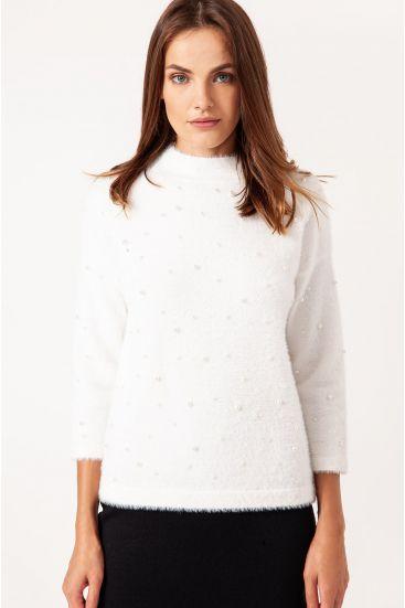 Sweter ze zdobieniem