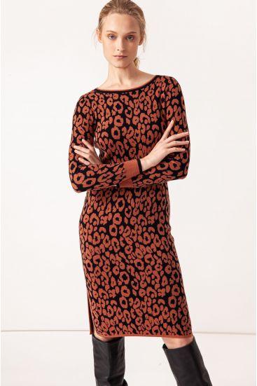 Żakardowa sukienka
