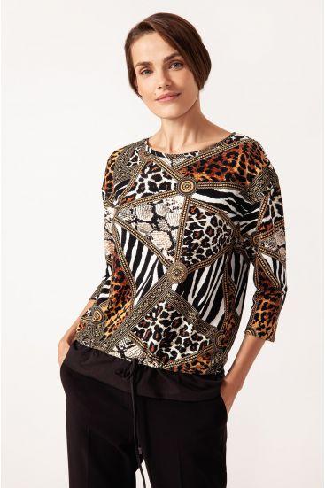 Bluza ze wzorem patchwork