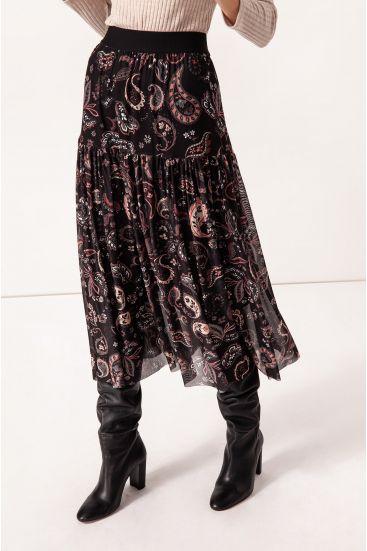 Spódnica ze wzorem paisley