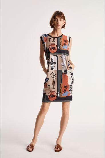 Sukienka z autorskim wzorem