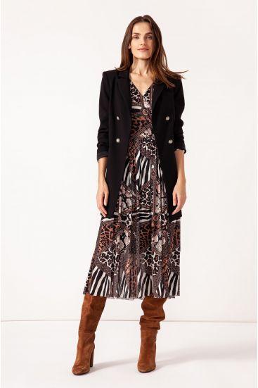 Sukienka ze wzorem patchwork