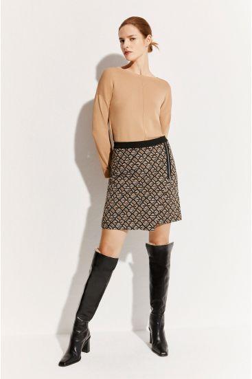 Żakardowa spódnica