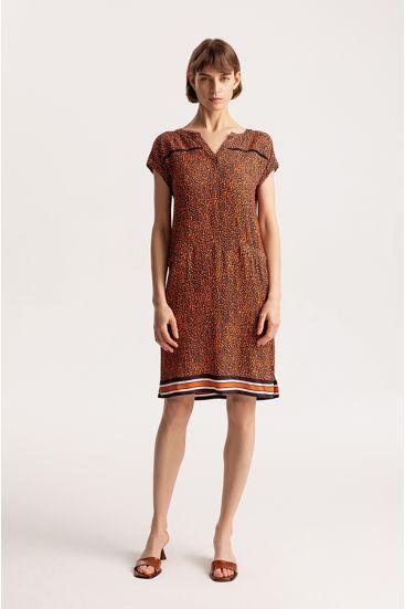 Krótka sukienka w zwierzęcy wzór