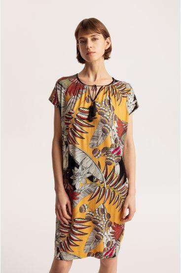 Sukienka z tropikalnym wzorem