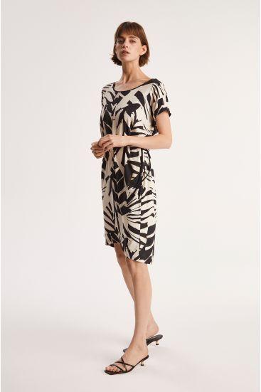 Luźna sukienka w zwierzęcy wzór