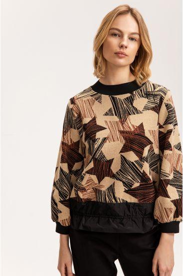 Bluza z łączonych materiałów