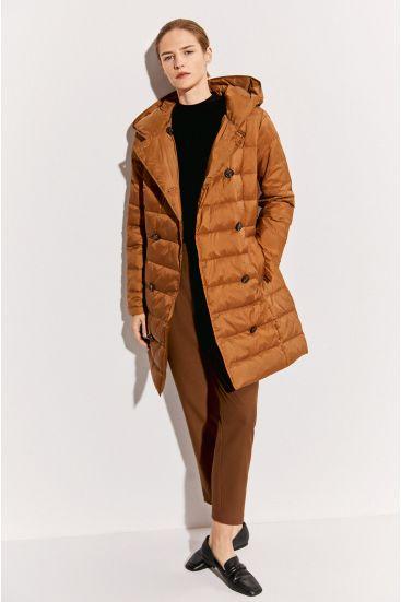 Dwurzędowy puchowy płaszcz