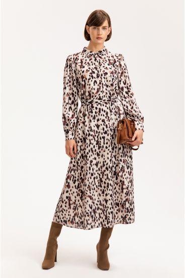 Sukienka midi z wzorem