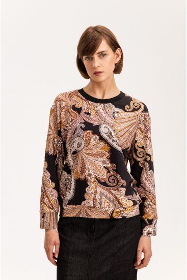 Bluza z wzorem paisley