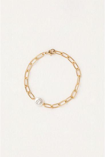 Bransoleta z imitacją perły