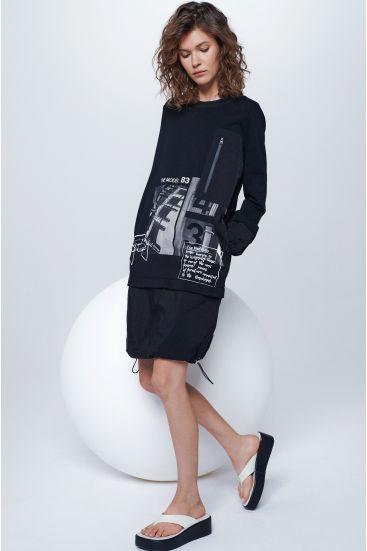 Sukienka oversize z bawełny