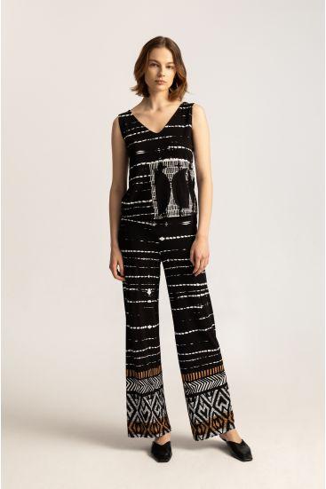 Spodnie ze wzorem batik