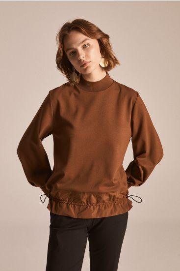 Bluza z łączonych tkanin
