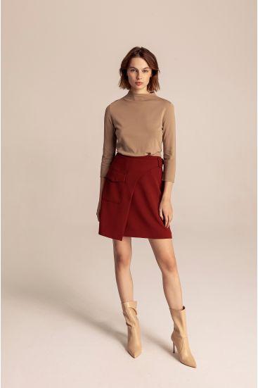 Spódnica mini z kieszenią