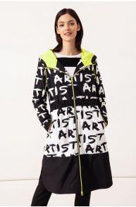 Płaszcz z graficznym printem