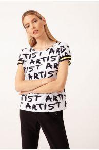 T-shirt z napisami