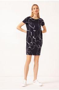 Sukienka w marmurkowy wzór