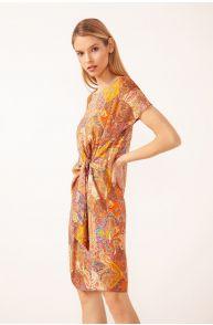 Wiskozowa sukienka z wzorem