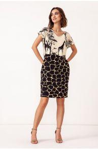 Sukienka z wiskozy z kieszeniami