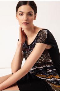Bawełniana sukienka z dekoltem v