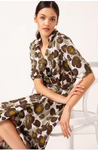 Kopertowa sukienka z printem