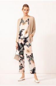 Spodnie z kwiatowym printem