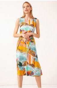 Sukienka z malarskim wzorem