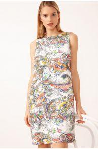 Lniana sukienka z wzorem paisley