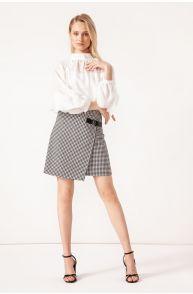 Spódnica mini w pepitę