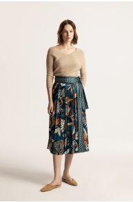 Wiązana spódnica ze wzorem