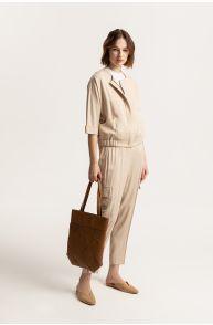 Spodnie cargo z wiskozy