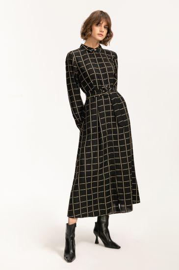 Koszulowa sukienka maxi